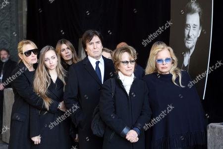 Editorial photo of Rocker Funeral, Paris, France - 11 Dec 2017
