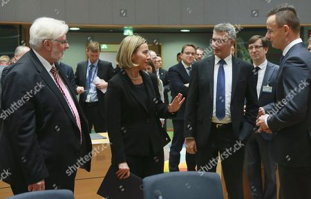 Witold Waszczykowski, Carmeno Abela and Federica Mogherini