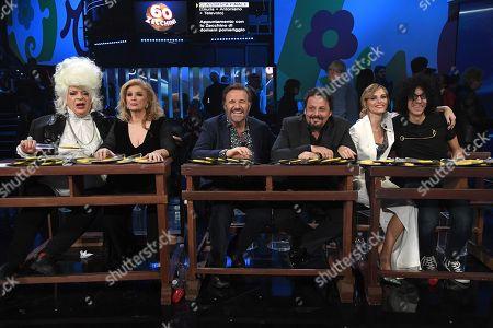 The Jury Platinette, Iva Zanicchi, Enrico Brignano, Christian De Sica, Francesca Fialdini, Giovanni Allevi