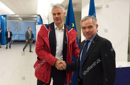 Stock Photo of Laurent Wauquiez and Bernard Accoyer