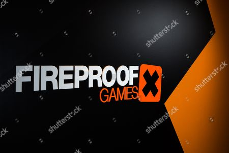Stock Picture of Guildford United Kingdom - January 6: Detail Of Company Branding In The Offices Of British Video Game Developer Fireproof Games In Guildford England On January 6