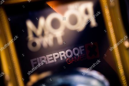 Stock Image of Guildford United Kingdom - January 6: Detail Of Company Branding In The Offices Of British Video Game Developer Fireproof Games In Guildford England On January 6