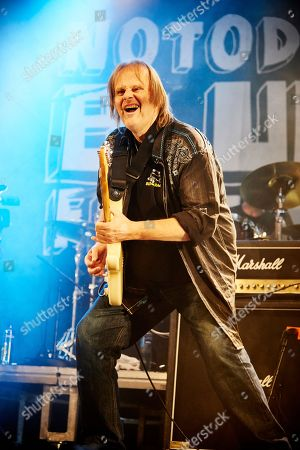 Notodden Norway - August 6: Guitarist Walter Trout Performing Live On Stage As Part Of Blues Rock Supergroup Supersonic Blues Machine At Notodden Blues Festival In Norway On August 6