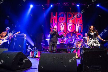 Happy Mondays - Paul Ryder, Shaun Ryder, Gary Whelan, and Rowetta Russell