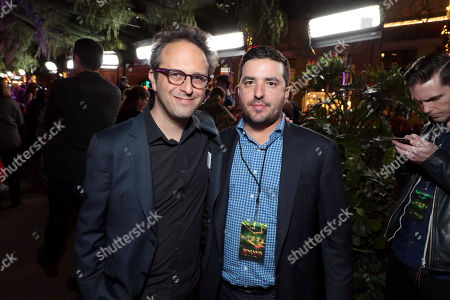 Jake Kasdan, Director/Executive Producer, and Josh Greenstein, President of Marketing & Distribution, Sony Pictures Worldwide, at Columbia Pictures Los Angeles premiere of JUMANJI: WELCOME TO THE JUNGLE