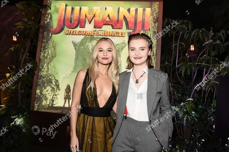 Hollywood, CA December 11, 2017 - Madison Iseman and Morgan Turner at Columbia Pictures Los Angeles premiere of JUMANJI: WELCOME TO THE JUNGLE