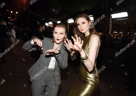 Hollywood, CA December 11, 2017 - Morgan Turner and Karen Gillan at Columbia Pictures Los Angeles premiere of JUMANJI: WELCOME TO THE JUNGLE