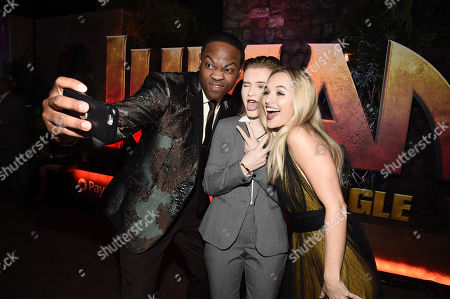 Hollywood, CA December 11, 2017 - Ser'Darius Blain, Morgan Turner and Madison Iseman at Columbia Pictures Los Angeles premiere of JUMANJI: WELCOME TO THE JUNGLE