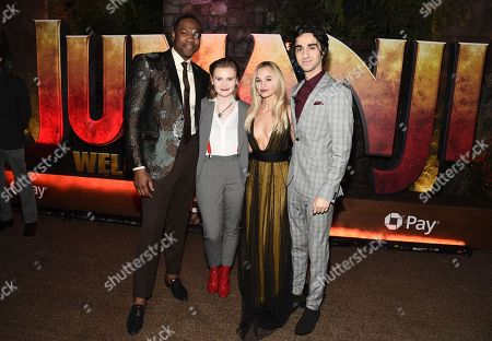 Hollywood, CA December 11, 2017 - Ser'Darius Blain, Morgan Turner, Madison Iseman and Alex Wolff at Columbia Pictures Los Angeles premiere of JUMANJI: WELCOME TO THE JUNGLE