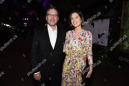 Hollywood, CA December 11, 2017 - Henry Jackman, Composer, and Victoria de la Vega at Columbia Pictures Los Angeles premiere of JUMANJI: WELCOME TO THE JUNGLE
