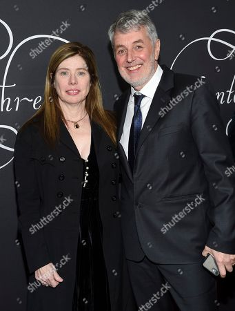 "JoAnne Sellar, Daniel Lupi. Producers JoAnne Sellar, left, and Daniel Lupi attend the premiere party for ""Phantom Thread"" at Harold Pratt House, in New York"