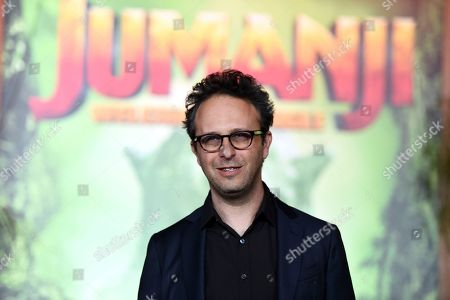 """Jake Kasdan arrives at the Los Angeles premiere of """"Jumanji: Welcome to the Jungle"""" on in Hollywood, Calif"""