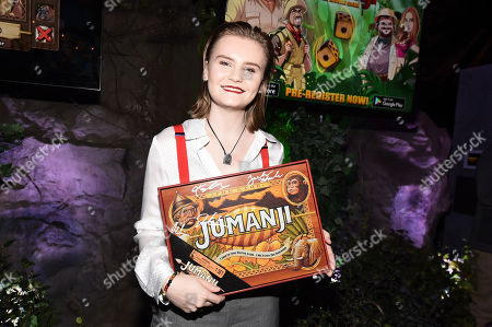 Morgan Turner at Columbia Pictures Los Angeles premiere after party of JUMANJI: WELCOME TO THE JUNGLE