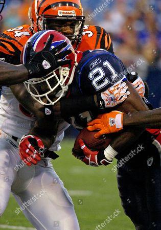 C.J. Spiller, Kyries Hebert. Cincinnati Bengals safety Kyries Hebert tries to tackle Buffalo Bills running back C.J. Spiller, right, during the first half of an NFL preseason football game in Orchard Park, N.Y. on . Bills won 35-20