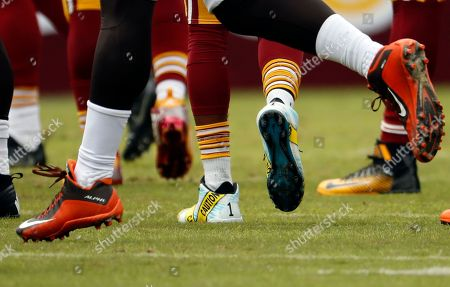 92b3decb9 Washington Redskins wide receiver DeSean Jackson (11) wears police caution  tape themed cleats during