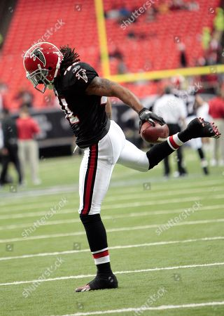 Atlanta Falcons safety Antoine Harris (41) prepares for their NFL football game against the Tampa Bay Buccaneers at the Georgia Dome in Atlanta