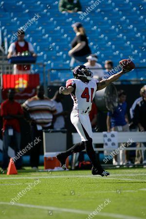 Atlanta Falcons' Antoine Harris (41) before an NFL football game against the Carolina Panthers in Charlotte, N.C
