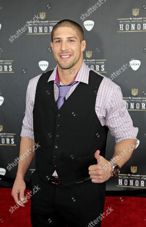 UFC Heavyweight Brendan Schaub walks the red carpet before the inaugural NFL Honors show, in Indianapolis.The New York Giants will face the New England Patriots in the NFL football's Super Bowl XLVI in Indianapolis on Feb. 5