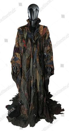Merlin's (Nicol Williamson) robe and helmet from John Boorman's medieval adventure film 'Excalibur'