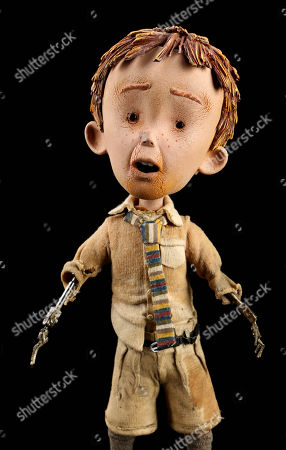A James Henry Trotter (Paul Terry) stop motion puppet from Henry Selick's 'James and the Giant Peach'