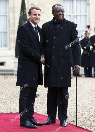 Idriss Deby Itno and Emmanuel Macron