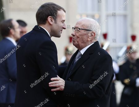 Stock Image of Emmanuel Macron and Beji Caid el Sebsi