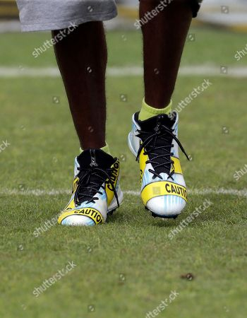 d38ccb08d Washington Redskins wide receiver DeSean Jackson (11) wears cleats with a police  caution tape