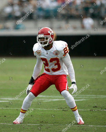 Kansas City Chiefs cornerback Mike Richardson in action during an NFL football game against the Jacksonville Jaguars, in Jacksonville, Fla
