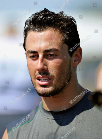 New York Jets wide receiver Scotty McKnight leaves the field after practice at their NFL football training camp, in Cortland, N.Y