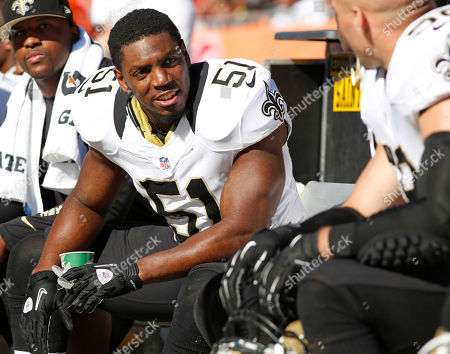 New Orleans linebacker Jonathan Vilma made his debut Sunday while appealing a suspension for his role in the Saints bounty program during an NFL game between the New Orleans Saints and the Tampa Bay Buccaneers, in Tampa, Florida