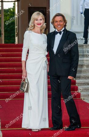 Otto Kern, wife. Naomi, Federal Presidents Dinner, Schloss Bellevue, Berlin
