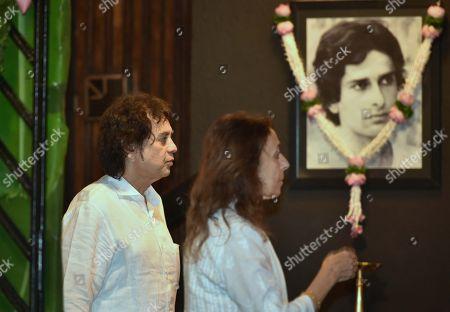 Tabla maestro Ustad Zakir Hussain during a condolence meeting of late actor Shashi Kapoor