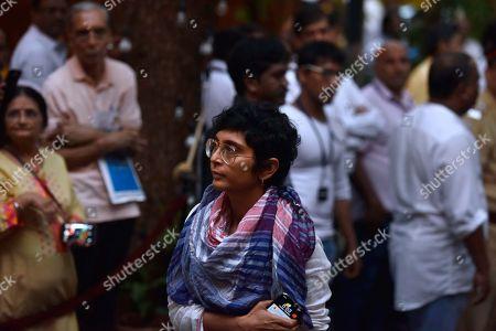 Bollywood filmmaker Kiran Rao during a condolence meeting of late actor Shashi Kapoor