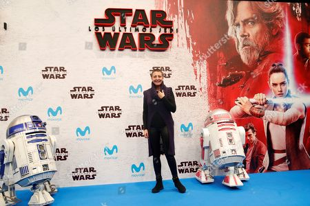 Spanish comedian and TV host Eva Hache poses for the photographers during the Spanish premiere of 'Star Wars: The Last Jedi' at Kinepolis cinemas in Madrid, Spain, 12 December 2017.