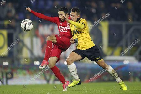 Stock Picture of (L-R) Christian Cuevas of FC Twente, Giovanni Korte of NAC Breda