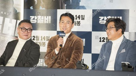 Stock Photo of Kim Eui-sung, Jung Woo-sung and Kwak Do-Won