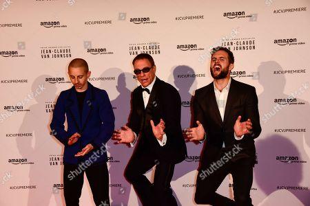Stock Image of Moises Arias, Jean-Claude Van Damme and Tim Peper