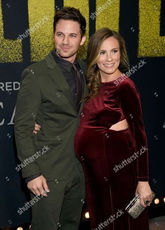 """Matt Lanter, Angela Lanter. Matt Lanter, left, and Angela Lanter arrive at the Los Angeles premiere of """"Pitch Perfect 3"""" at the Dolby Theatre on"""