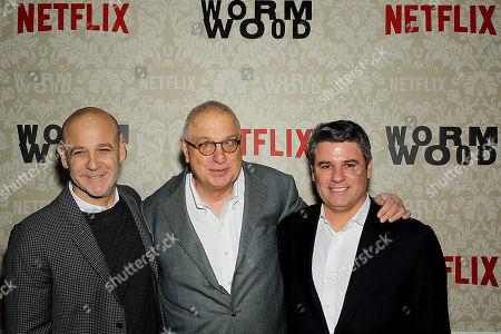 Peter Friedlander (Vice Pres Original Series Netflix), Errol Morris (Director), Adam Del Deo (Dir. Original Documentary Programimg Netflix)
