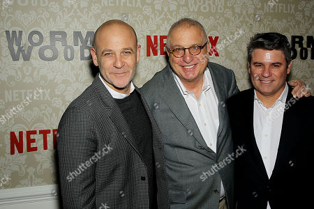 Stock Picture of Peter Friedlander (Vice Pres Original Series Netflix), Errol Morris (Director), Adam Del Deo (Dir. Original Documentary Programimg Netflix)