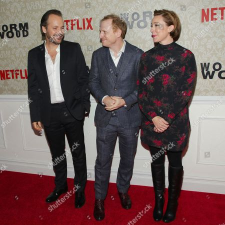 Peter Sarsgaard, Scott Shepherd, Molly Parker. Actors Peter Sarsgaard, from left, Scott Shepherd and Molly Parker