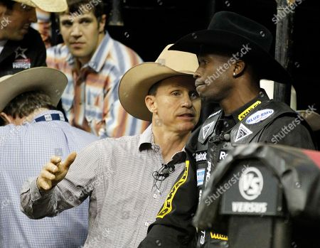 Editorial photo of Ochocinco Bull Ride Football Rodeo, Duluth, USA - 14 May 2011