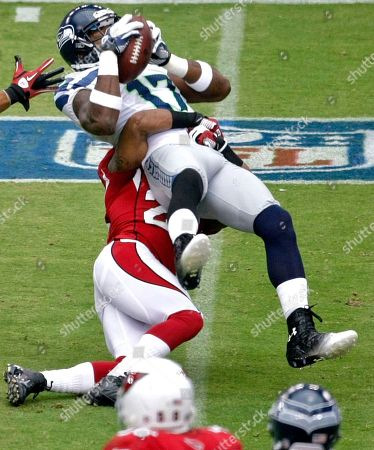 Braylon Edwards, Williams Gay. Seattle Seahawks wide receiver Braylon Edwards (17) pulls in a pass as Arizona Cardinals' William Gay (23) defends during the first half of an NFL football game,in Glendale, Ariz