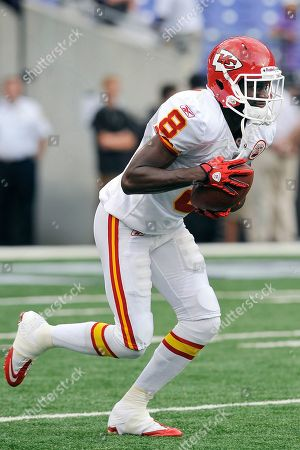 Kansas City Chiefs wide receiver Chandler Williams warms up before a preseason NFL football game against the Baltimore Ravens in Baltimore