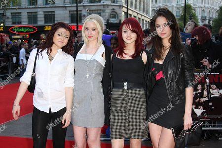 Kathryn Prescott, Lily Loveless, Megan Prescott and Kaya Scodelario