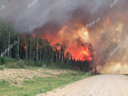 Editorial image of Wildfires, Saskatchewan, Canada - 29 Jun 2015