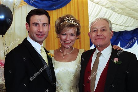 Ep 2357 Thursday 7th May 1998  It's the day of the big wedding for Steve and Kim - With Kim Marchant, as played by Claire King ; Steve Marchant, as played by Paul Opacic ; John Kenyon, as played by Alan Rothwell
