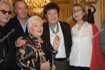 Luc Plamondon, Robert Charlebois, Francoise Nyssen, Patrick Bruel, Michel Leeb and Line Renaud