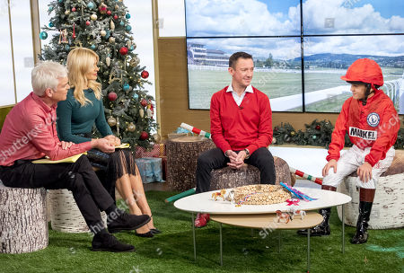 Phillip Schofield and Holly Willoughby with Frankie Dettori and Rocco Dettori
