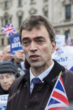 Tom Brake MP at a rally in support of Amendment 7 to the EU Withdrawal Bill.